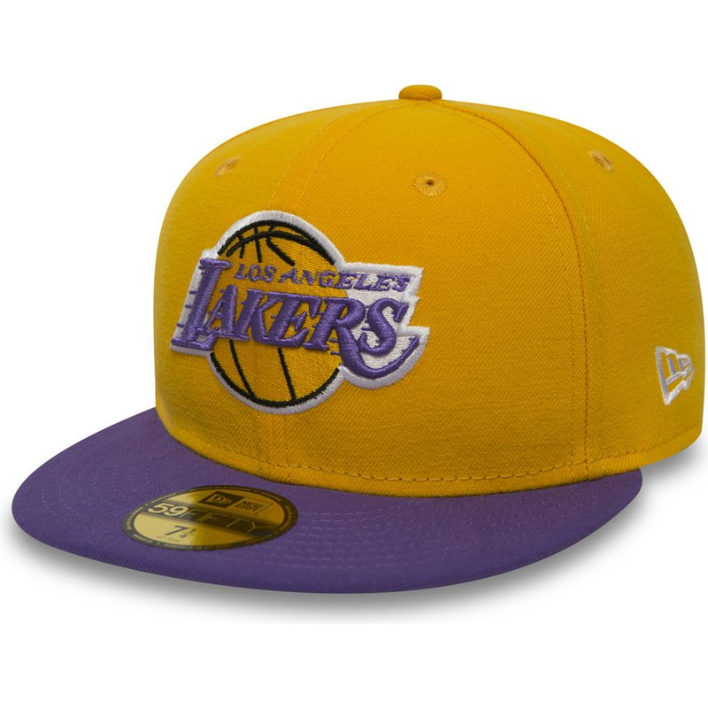 48d634a7f31 New Era Flat Brim 59FIFTY Essential Los Angeles Lakers NBA Yellow ...