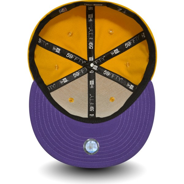 new-era-flat-brim-59fifty-essential-los-angeles-lakers-nba-yellow-fitted-cap