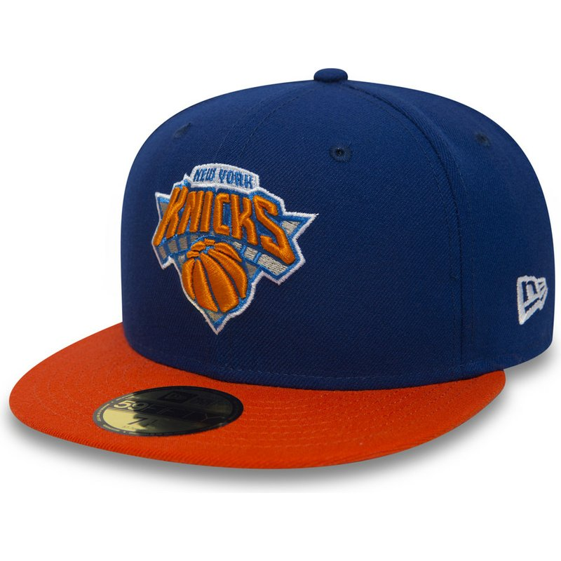 de7708b5e4c New Era Flat Brim 59FIFTY Essential New York Knicks NBA Blue Fitted ...
