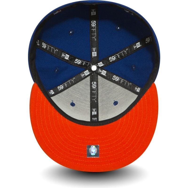 2a6a7871045 New Era Flat Brim 59FIFTY Essential New York Knicks NBA Blue Fitted ...