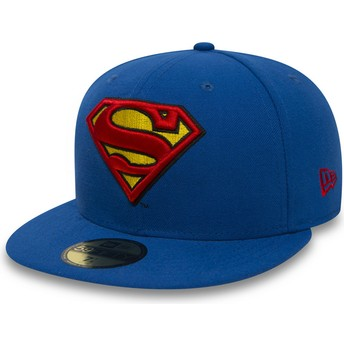 New Era Flat Brim 59FIFTY Superman Character Essential Warner Bros. Blue Fitted Cap