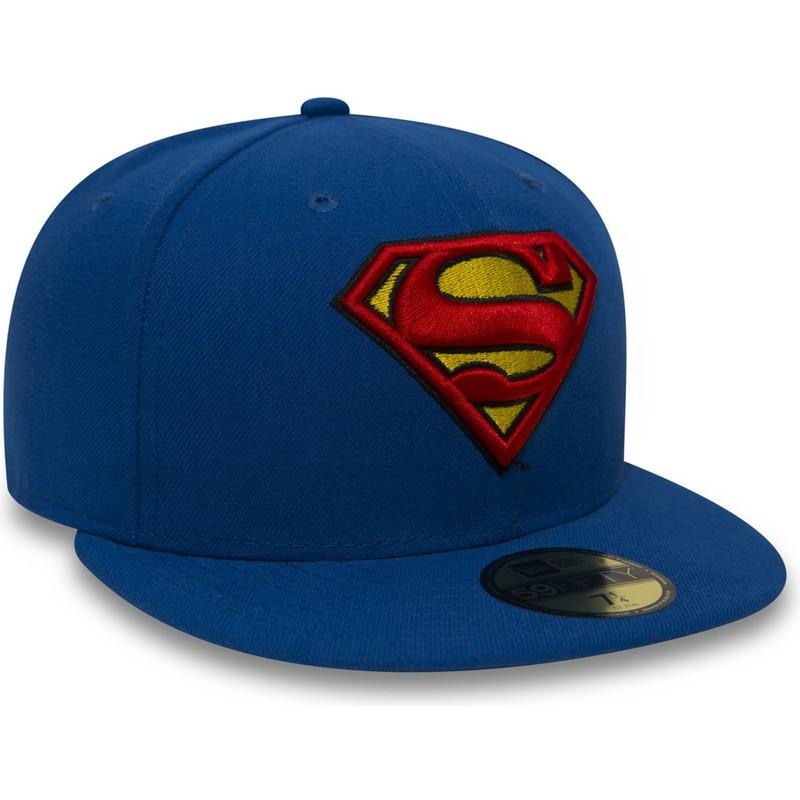 New Era Flat Brim 59FIFTY Superman Character Essential Warner Bros ... 21040c331ec