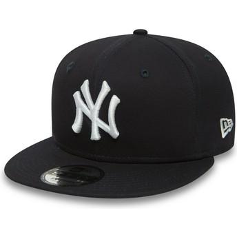 Gorra plana azul marino ajustable 9FIFTY Essential de New York Yankees MLB de New Era