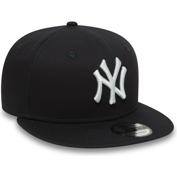 new-era-flat-brim-9fifty-essential-new-york-yankees-mlb-navy-blue-snapback-cap