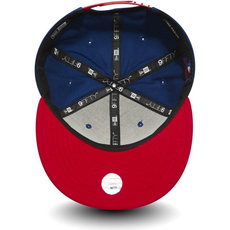 new product e0863 3a34c ... York Yankees MLB Blue Snapback Cap. new-era-flat-brim-9fifty-cotton- block-new-