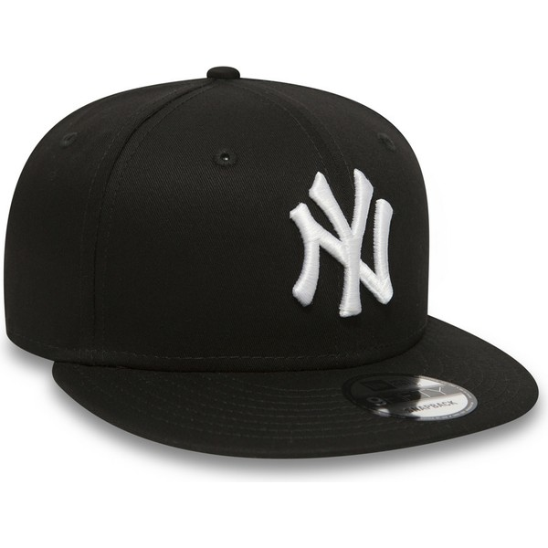 new-era-flat-brim-9fifty-white-on-black-new-york-yankees-mlb-black-snapback-cap