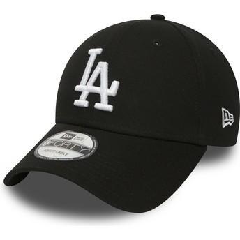 Gorra curva negra ajustable 9FORTY Essential de Los Angeles Dodgers MLB de New Era