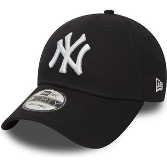 Gorra curva azul marino ajustable 9FORTY Essential de New York Yankees MLB de New Era