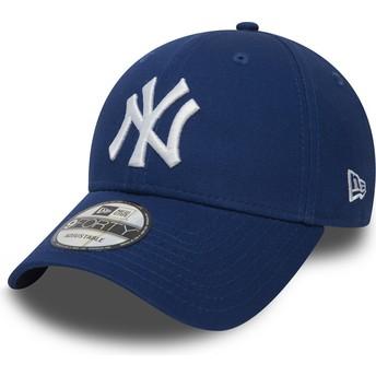 Gorra curva azul ajustable 9FORTY Essential de New York Yankees MLB de New Era