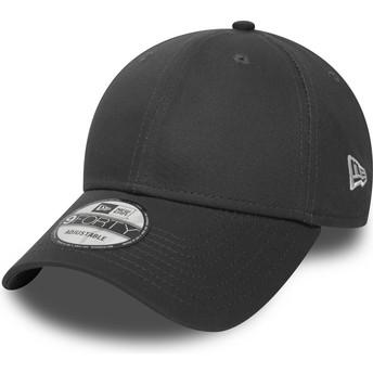 New Era Curved Brim 9FORTY Basic Flag Stone Grey Adjustable Cap