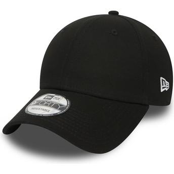 Gorra curva negra ajustable 9FORTY Basic Flag de New Era