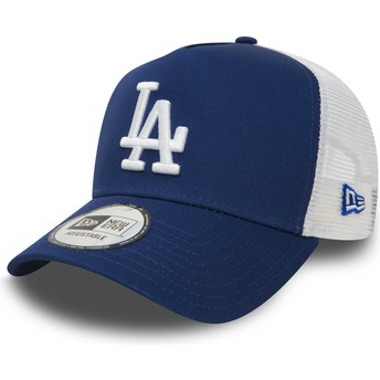 New Era Clean A Frame Los Angeles Dodgers MLB Blue Trucker Hat