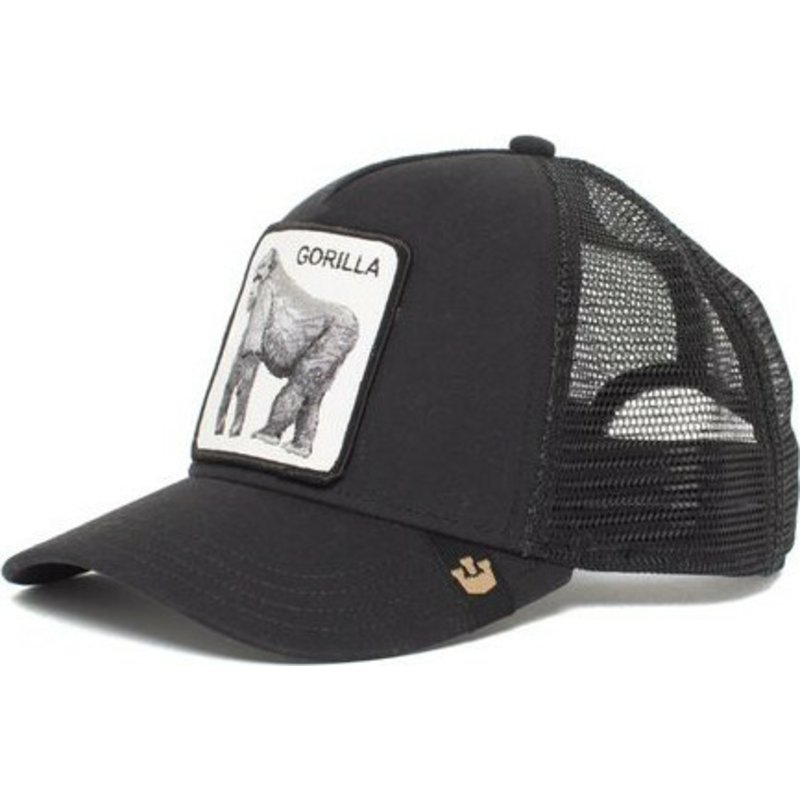 287e6d6b4 Goorin Bros. Gorilla King of the Jungle Black Trucker Hat
