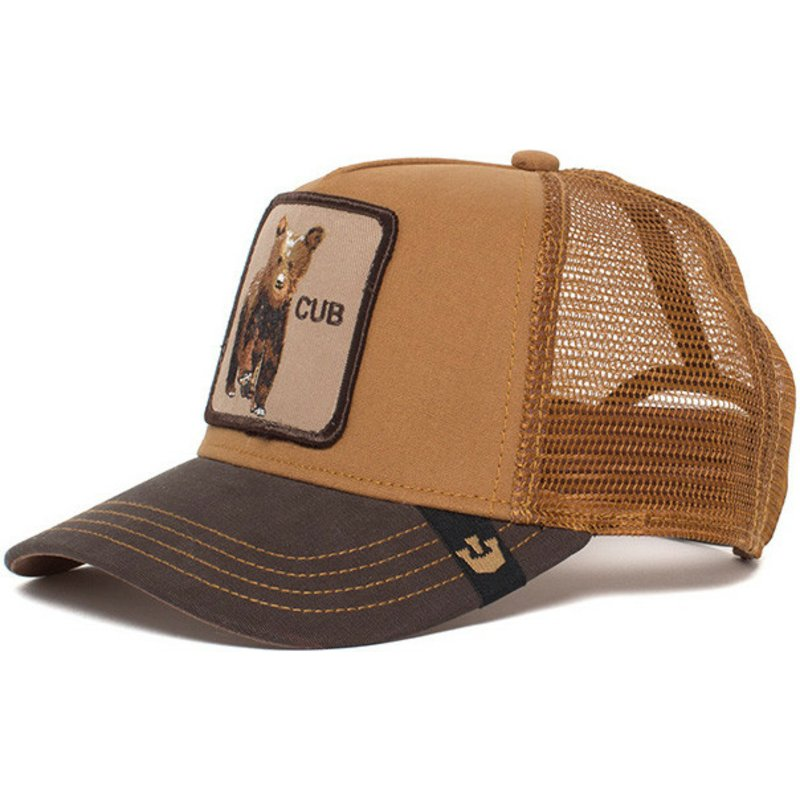 Goorin Bros. Youth Baby Cub Brown Trucker Hat  Shop Online at Caphunters 8a5eb7224f64