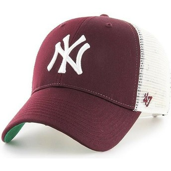 47 Brand New York Yankees MLB MVP Branson Maroon Trucker Hat