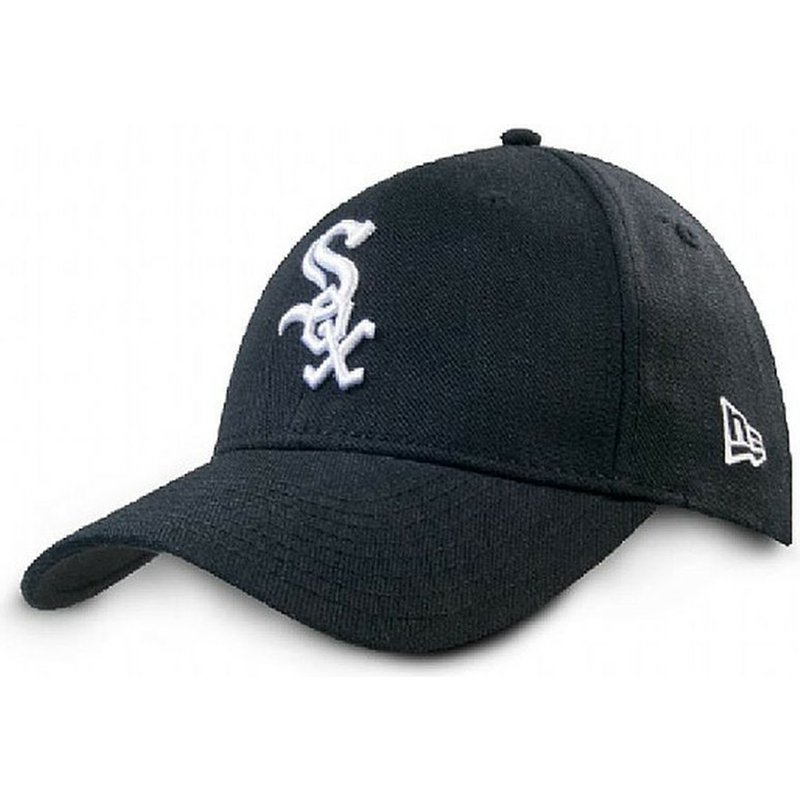 new-era-curved-brim-9forty-the-league-chicago-white-sox-mlb-black-adjustable-cap