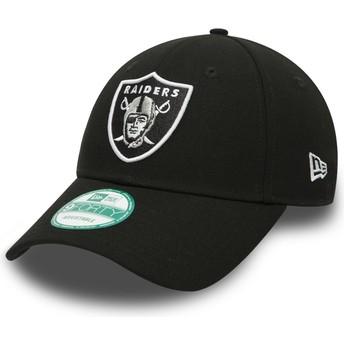 Gorra curva negra ajustable 9FORTY The League de Las Vegas Raiders NFL de New Era