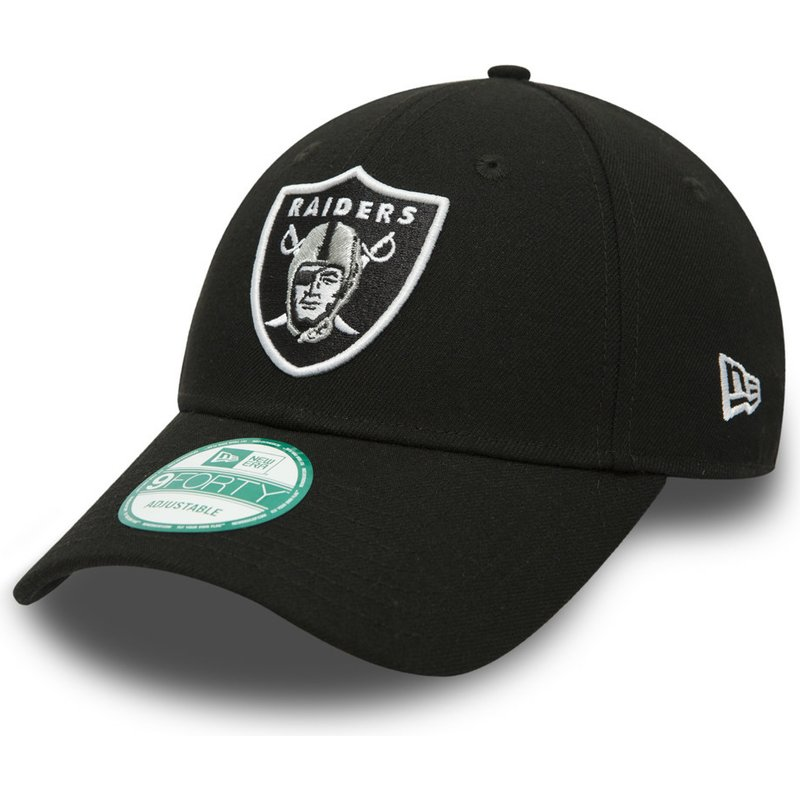 New Era Curved Brim 9FORTY The League Oakland Raiders NFL Black Adjustable  Cap  Shop Online at Caphunters 7965736ff82