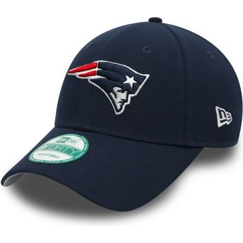 Gorra curva azul marino ajustable 9FORTY The League de New England Patriots NFL de New Era