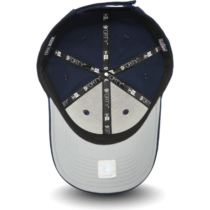 7145e090735 New Era Curved Brim 9FORTY The League New England Patriots NFL Navy ...