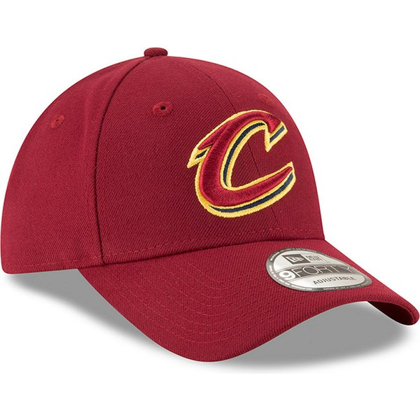 new-era-curved-brim-9forty-the-league-cleveland-cavaliers-nba-red-adjustable-cap