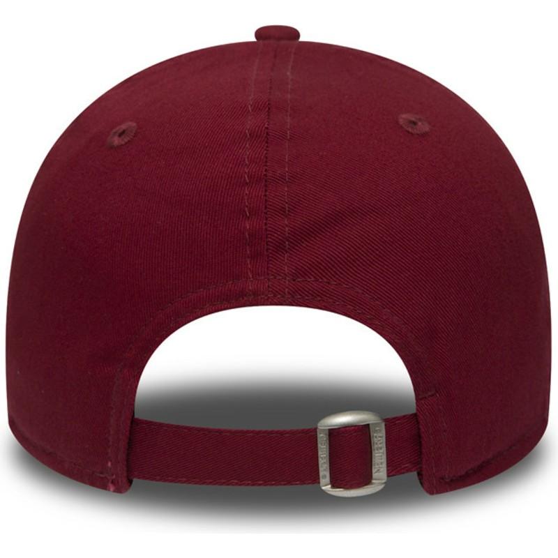 New Era Curved Brim 9FORTY Essential New York Yankees MLB Cardinal ... ba32e1aaaea1