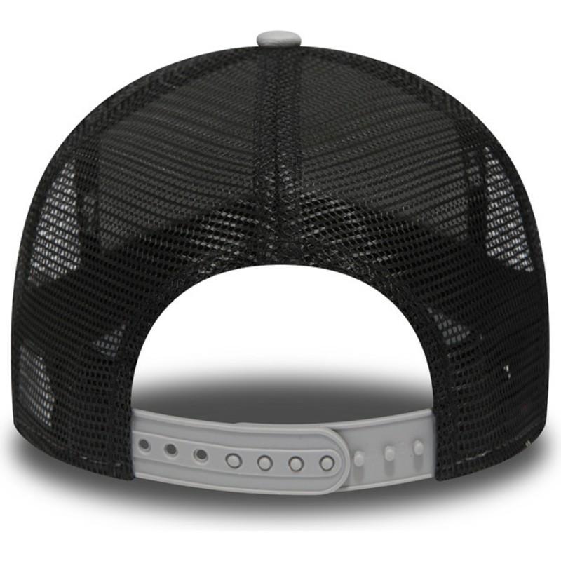 New Era Essential A Frame New England Patriots NFL Grey Trucker Hat ... 7eb40464ff2b