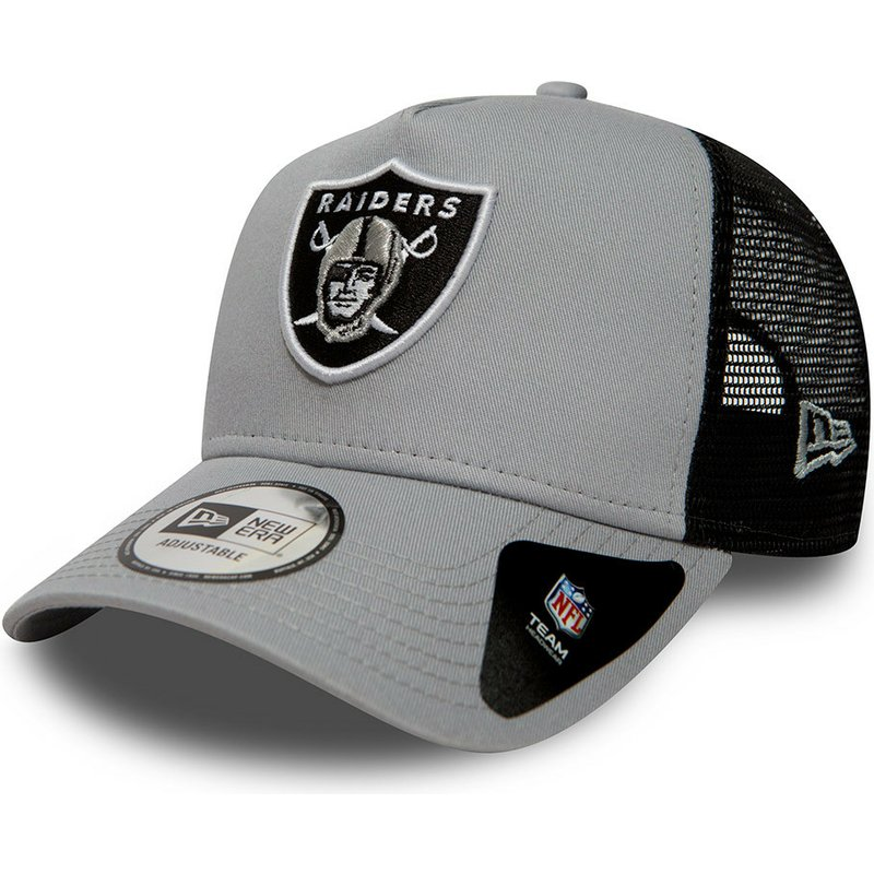 027fec74c8d New Era Essential A Frame Oakland Raiders NFL Grey Trucker Hat  Shop ...