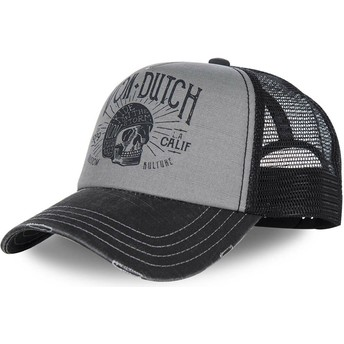 Von Dutch Curved Brim CREW1 Grey and Black Adjustable Cap