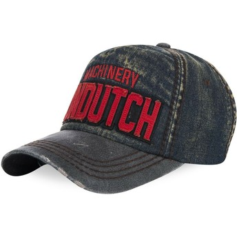 Von Dutch Curved Brim DONALD03 Blue Denim Adjustable Cap