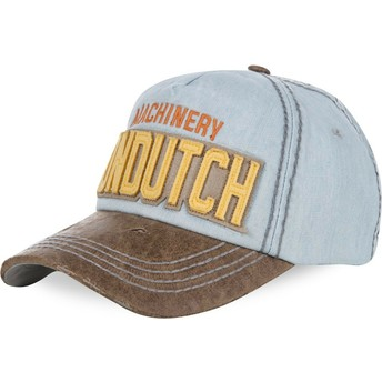 Von Dutch Curved Brim DONALD04 Light Blue Adjustable Cap