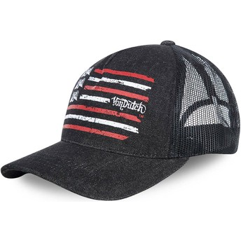 Von Dutch FLAG Black Trucker Hat