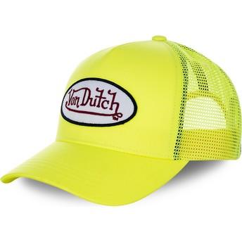 Von Dutch FRESH05 Yellow Trucker Hat