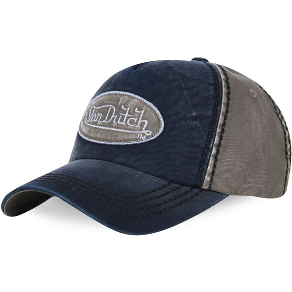 von-dutch-curved-brim-ilan01-navy-blue-and-grey-adjustable-cap