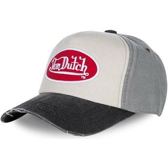 Von Dutch Curved Brim JACK10 Grey Adjustable Cap