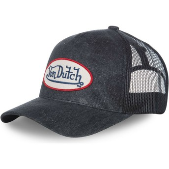 Von Dutch Curved Brim MC92B Navy Blue Denim Adjustable Cap