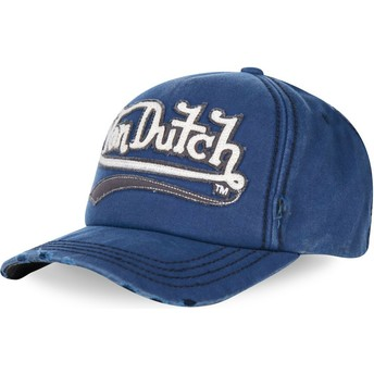 Von Dutch Curved Brim SIGNA02 Blue Adjustable Cap