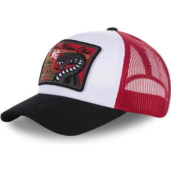 Von Dutch SNAKE White, Red and Black Trucker Hat