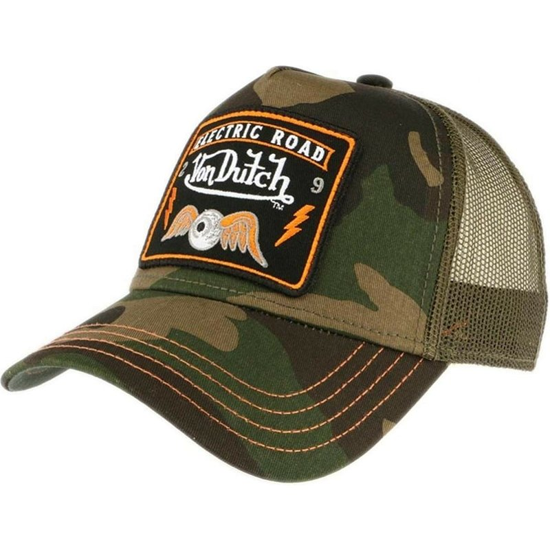 19b0a2d8c7ebb Von Dutch SQUARE4 Camouflage Trucker Hat  Shop Online at Caphunters
