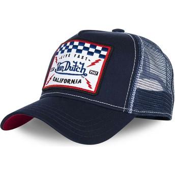 Von Dutch SQUARE5B Navy Blue Trucker Hat