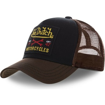 Von Dutch SQUARE10 Black and Brown Trucker Hat