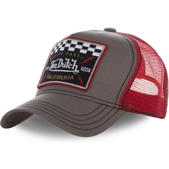 Von Dutch SQUARE17 Brown and Red Trucker Hat