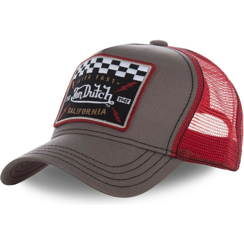 Von Dutch SQUARE17 Brown and Red Trucker Hat  Shop Online at Caphunters 40a488134d5