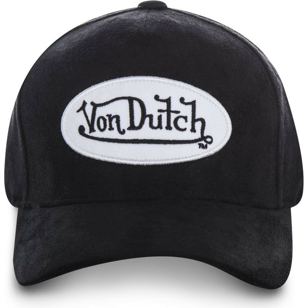 von-dutch-curved-brim-suede7-black-adjustable-cap