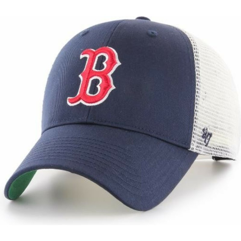 e1a7f2c99b 47 Brand Boston Red Sox MLB MVP Branson Navy Blue Trucker Hat  Shop Online  at Caphunters