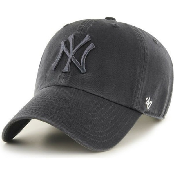 47-brand-curved-brim-dark-grey-logo-new-york-yankees-mlb-clean-up-dark-grey-cap