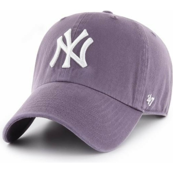 47-brand-curved-brim-new-york-yankees-mlb-clean-up-purple-cap