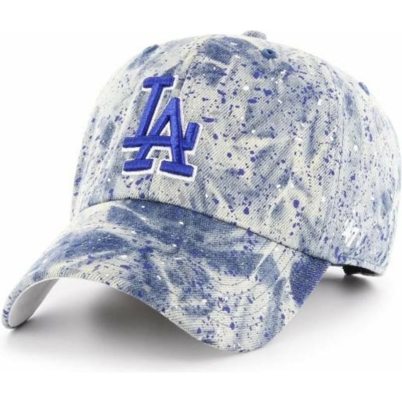 205b57d6 47 Brand Curved Brim Blue Logo Los Angeles Dodgers MLB Clean Up ...