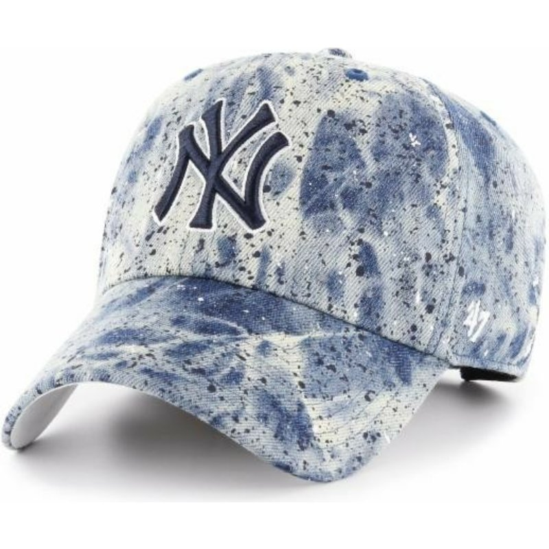 47-brand-curved-brim-blue-logo-new-york-yankees-mlb-clean-up-splat-blue-cap