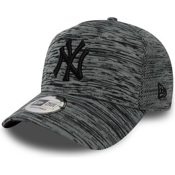 New Era Curved Brim Engineered Fit A Frame New York Yankees MLB Mottled Grey Snapback Cap